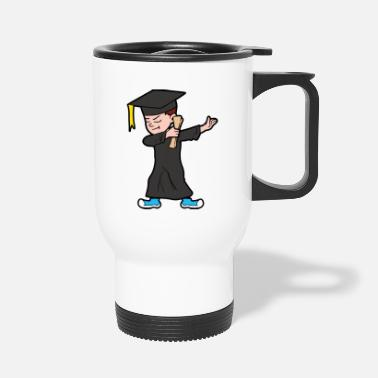 Graduation Ceremony Dabbing Dab Degree Graduate Student Graduation - Travel Mug