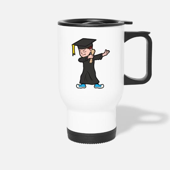 Degree Mugs & Drinkware - Dabbing Dab Degree Graduate Student Graduation - Travel Mug white