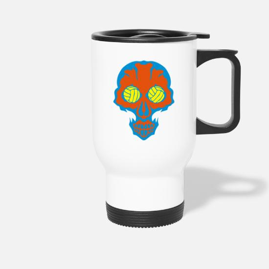 Waterpolo Mugs et récipients - volley waterpolo tete mort skull oeil eye - Mug isotherme blanc