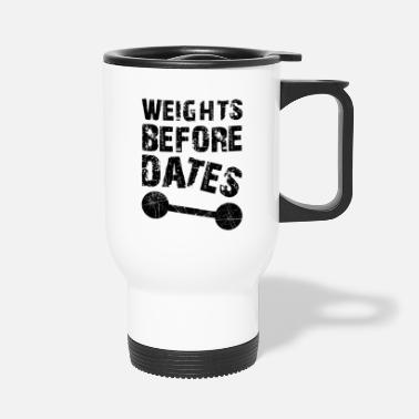 Dating Weights Before Dates - Travel Mug
