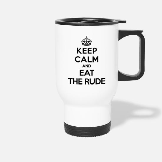 Rude Muggar & tillbehör - Keep calm and eat the rude (Hannibal) - Termosmugg vit