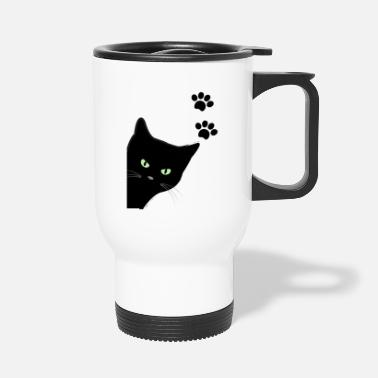 kitty's green eyes cat - Travel Mug