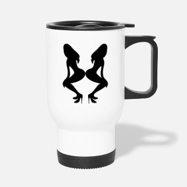 Vector Underwear ۞»♥Sexy Twin women on Killer Stilettos♥«۞ - Travel Mug
