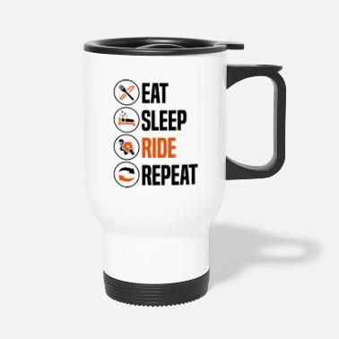 Sleeping eat sleep ride repeat sportsbike 2col - Travel Mug