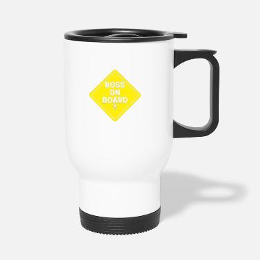 Drive Go By Car Children in the car driving carefully driving distance - Travel Mug