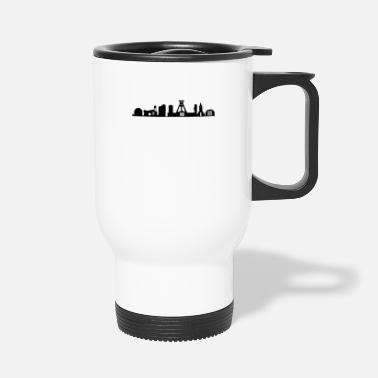 German Mining Museum Bochum skyline black - Travel Mug