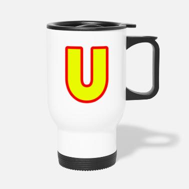 Alphabet, letter U - Travel Mug