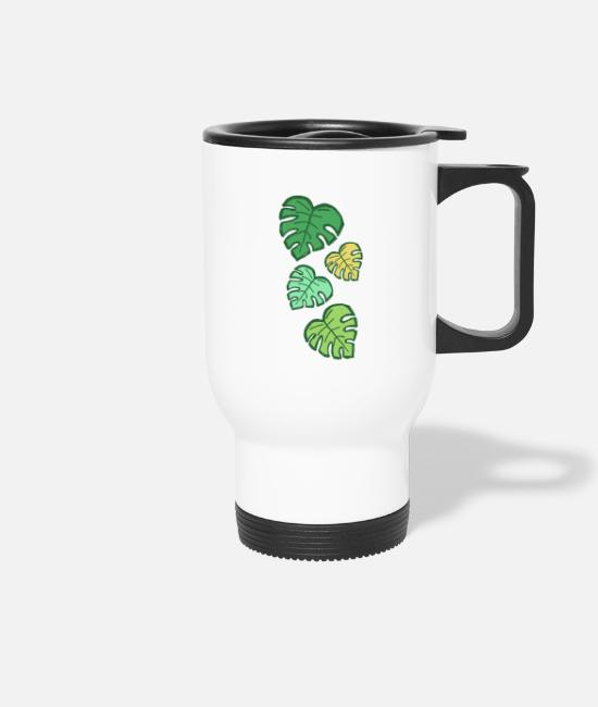 Nature Mugs & Drinkware - Plant - pattern - leaves - Travel Mug white