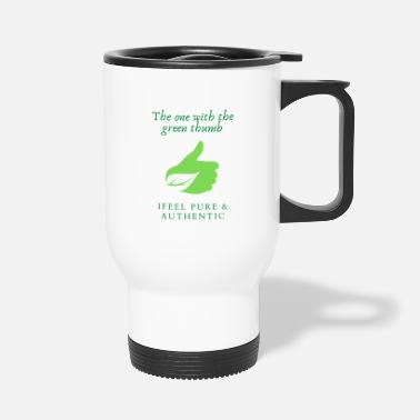 Green Thumb The one with the green thumb - Travel Mug
