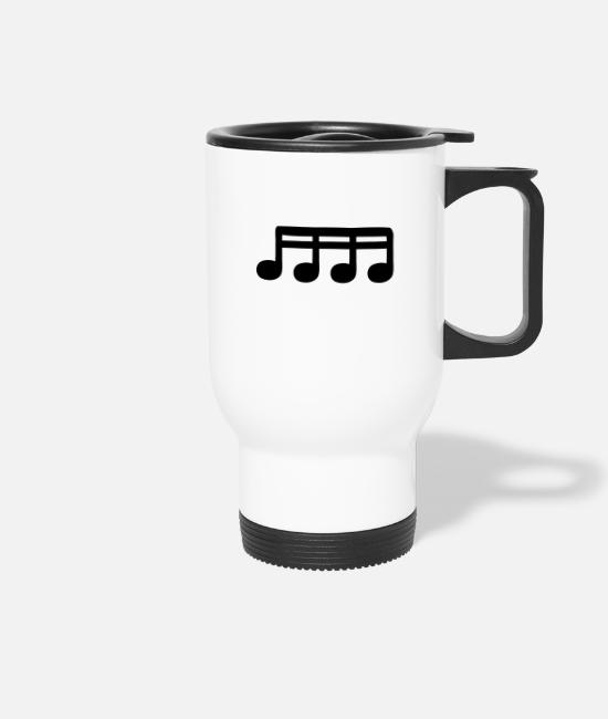 Guitar Mugs & Drinkware - sixteenths - Travel Mug white
