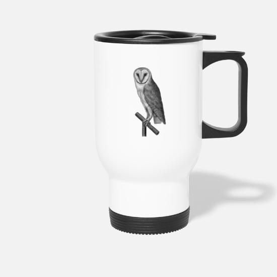 Owl Mugs & Drinkware - owl - Travel Mug white