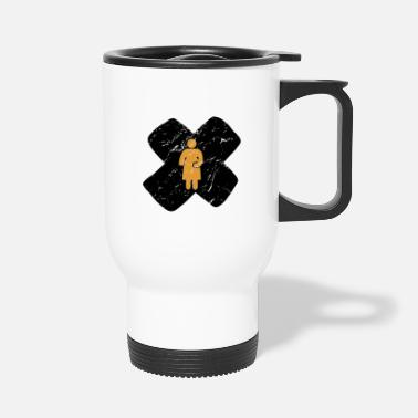 Belly Pregnancy mother baby belly cross gift - Travel Mug