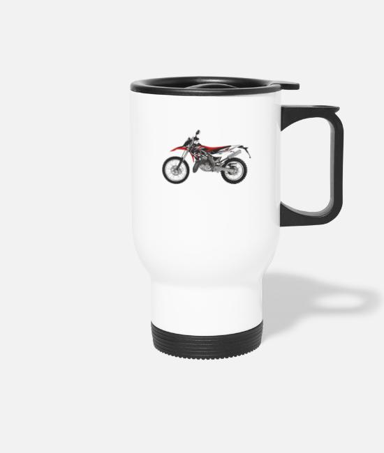 Speed Mugs et tasses - motocross - Mug isotherme blanc