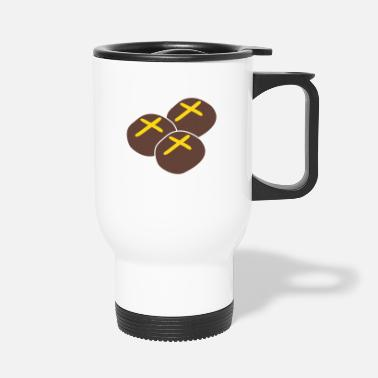 Cross three hot cross buns - Travel Mug