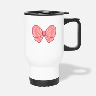 Girly Noeud girly très fille rose - Mug isotherme