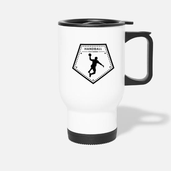 Gift Idea Mugs & Drinkware - handball player - Travel Mug white