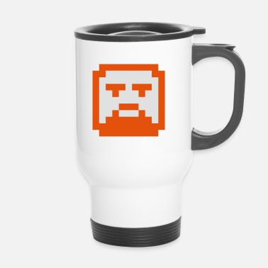 Hipster Pixelated Hipster Face / Faccia Hipster in Pixel - Tazza termica