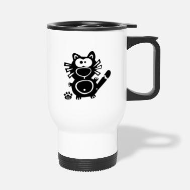 Cupid Catpaw Cat Cats Katze Katzen Comic Cartoon Humor - Travel Mug