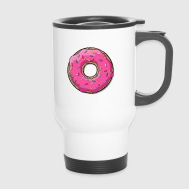 Cartoon Donut Donut - Thermobecher
