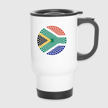 South Africa South Africa Love HERZ Mandala - Travel Mug