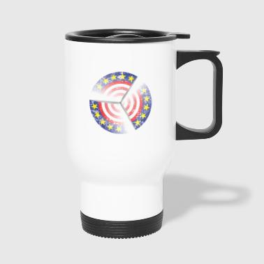 US wind turbine wind energy activists design - Travel Mug