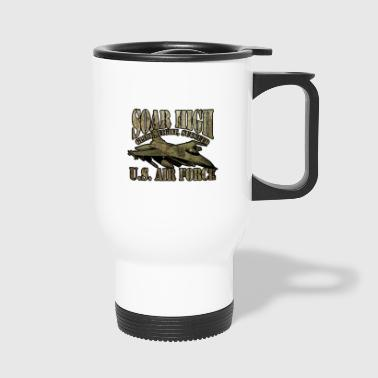 American Air Force airplane flying plane - Travel Mug