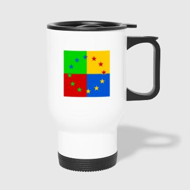 Europe star pop art - Travel Mug