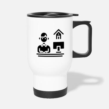 Home Office Man Home office - Travel Mug