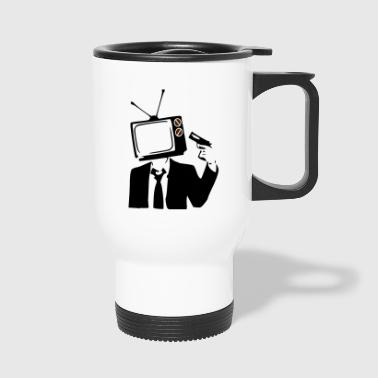 TELEVISION IS POOP - Travel Mug