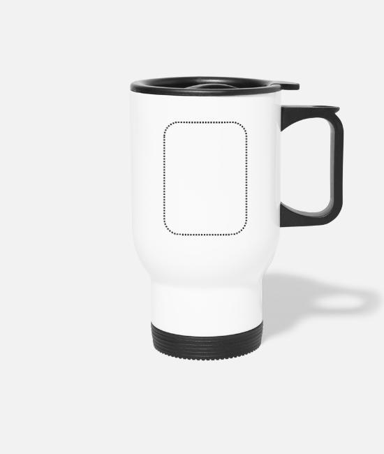 Line Mugs & Drinkware - Rechteck gepunktet rund - Travel Mug white