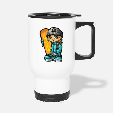 Mp3 Les snowboarders et mp3 - Mug isotherme