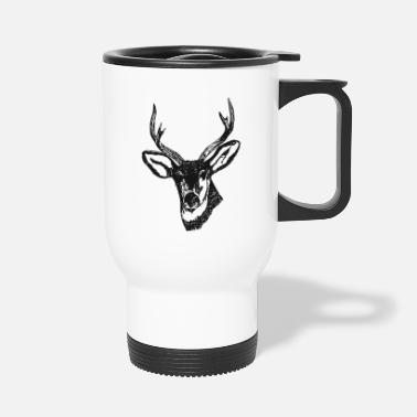 Stag Deer stag head antler gift - Travel Mug