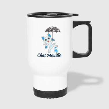 Chat mouille - Mug thermos