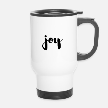 Joie joie simple joie manuscrite - Mug thermos