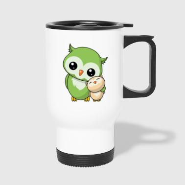 Owls siblings - Travel Mug