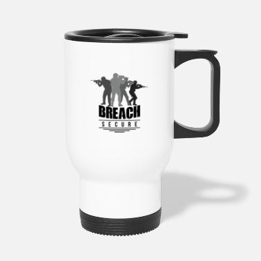 Breaching security breach - Travel Mug