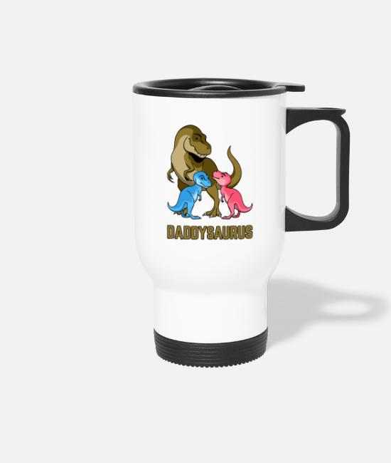 Dinosaurs Mugs & Drinkware - Daddysaurus - Travel Mug white