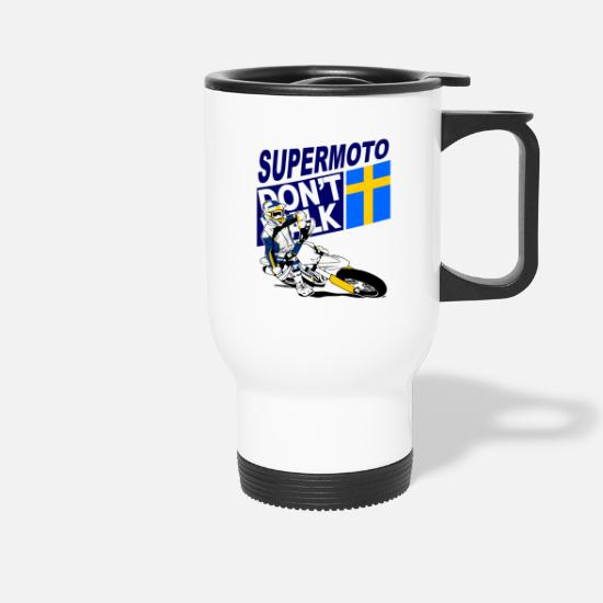 Motorsport Tassen & Becher - Supermoto Racing - Thermobecher Weiß
