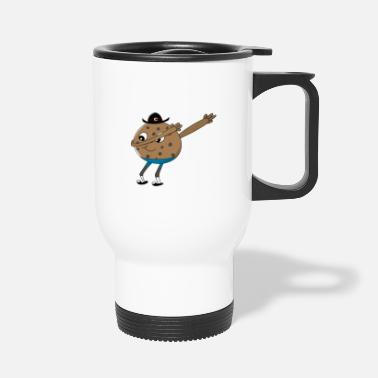 Idea Vectors Dabbing cookie biscuit gift idea cute - Travel Mug