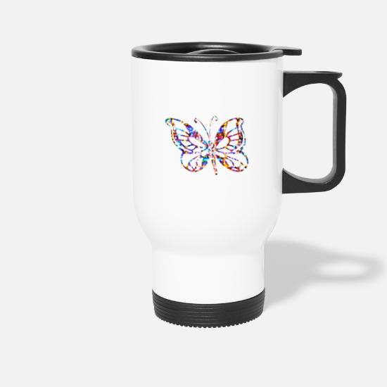 Gift Idea Mugs & Drinkware - Butterfly gifts butterfly butterflies - Travel Mug white