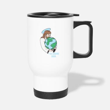 Christmas Jesus is coming soon - Travel Mug