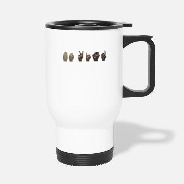 Equalizer Be Kind ASL Sign Language - Travel Mug