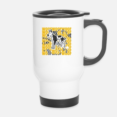 Réunion Great Dane Great Dane Dog Wow Chien Cadeau - Mug thermos