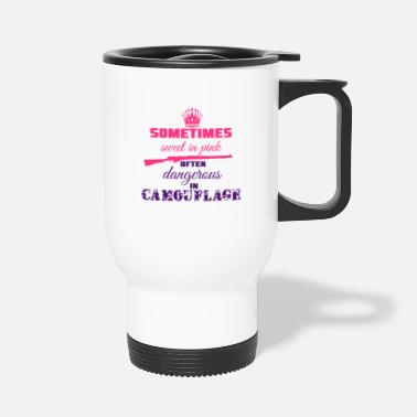 Camoflage Sweet in Pink - Travel Mug