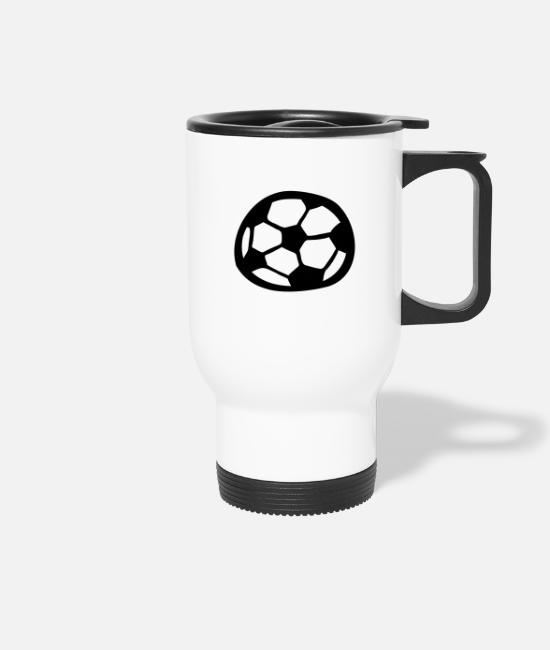 Comic Style Mugs & Drinkware - Soccer - Travel Mug white