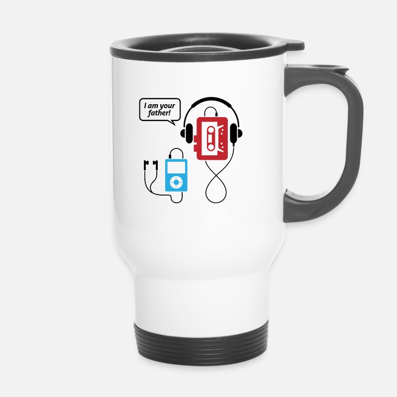 Funny Mugs & Drinkware - MP3 player, I am your father! - Travel Mug white