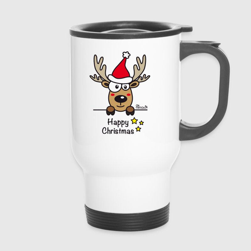 Baby Renne, Noël - Happy Christmas - Mug thermos