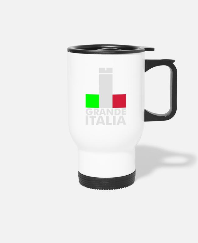 Bandiera Mugs & Drinkware - Italia Italy flag - grande italia - provocative - Travel Mug white