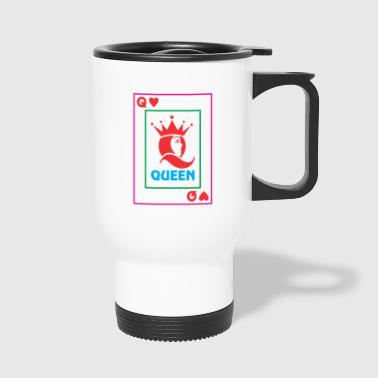 QUEEN playing card - Travel Mug