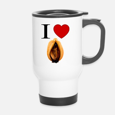 Vagin I love mussel Bouteilles et tasses - Mug thermos